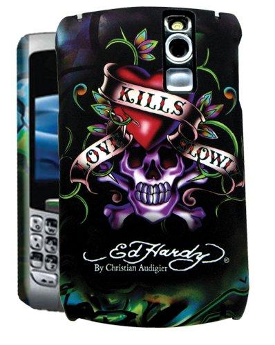 Ed Hardy Faceplate for BlackBerry Curve 8300 - Love Kills Slowly Tattoo - Black