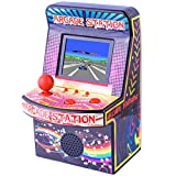 "ZHISHAN Mini Arcade Game Machine System Classic Version 2.5"" LCD Screen Built-in 240 Old Style Video Games Handheld Game Console Retro Gaming Player Unique Gift for Kids and Adults Ever (Classic)"