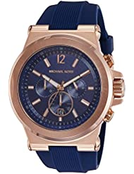 Michael Kors Mens Dylan Rose Gold-Tone Watch MK8295