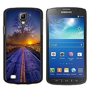 "Be-Star Único Patrón Plástico Duro Fundas Cover Cubre Hard Case Cover Para Samsung i9295 Galaxy S4 Active / i537 (NOT S4) ( Magical Sunset Mundial Árbol Arte Camino Niebla Amanecer"" )"