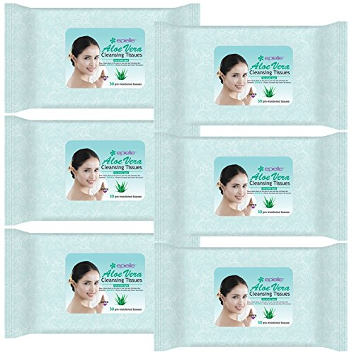 Epielle Aloe Vera Facial Cleansing Tissues-30ct (6 Pack)