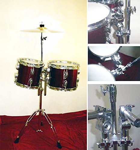 NEW WINE RED 8''&10'' CONCERT TOMS DRUMS With HARDWARE.FREE 14'' CYMBAL