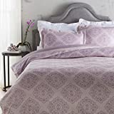 Heather and Amethyst Purple Decorative Elegance Damask Opulent Twin Set