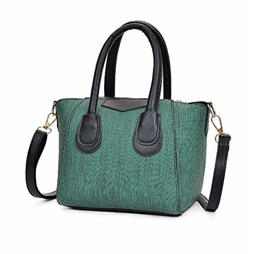 Pelle Casuale Borsa Bag Zip Tote Donna Kword Tote A Bag In Borsa Borsa Tracolla Verde Borsa Donna Casuale Awa0X6n7n