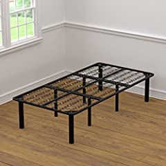 The 2 for 1 twin size bed frame and box spring combination is a steel bed foundation that eliminates the need for a box spring. The sinuous spring base covers the entire frame providing solid support for the mattress as well as even body dist...