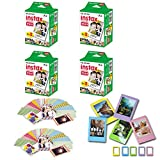 Fujifilm Instax Mini Instant Film 80 Shots with Bonus Photix 5-Color Self-Standing Frame Set and 40 Decorative Skin Stick-on Stickers for Fuji Instax Mini 9, Mini 8, SP-1 and SP-2