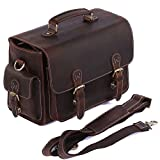 S-ZONE Vintage Genuine Leather DSLR SLR Camera Shoulder Bag