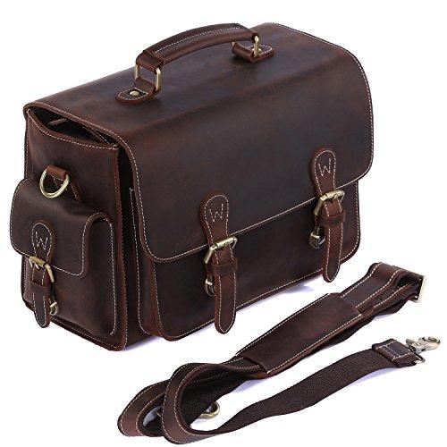 S-ZONE Vintage Genuine Leather DSLR SLR Camera Shoulder Bag