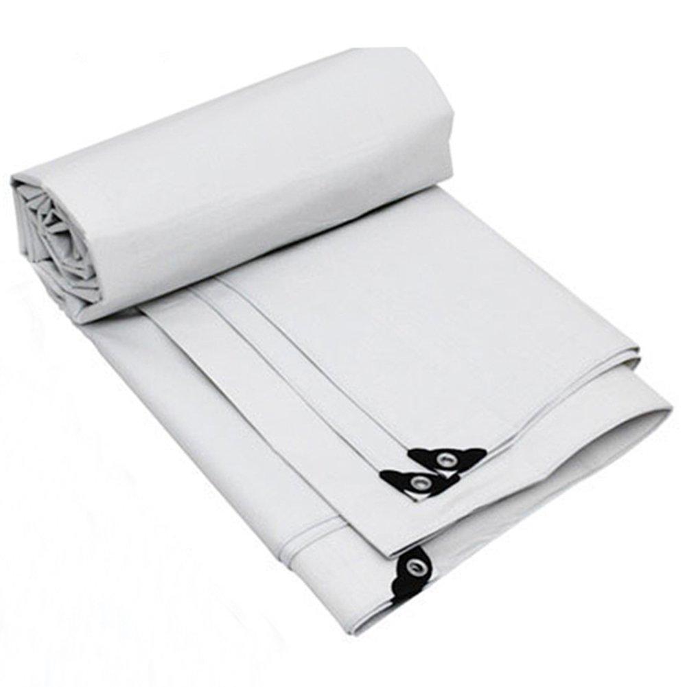JIANFEI 日よけオーニング 遮光断熱材無し強靭工業用ポリエステル糸PVC、2色10サイズ厚さ0.35mm (色 : 白, サイズ さいず : 9.8mx5.8m) B07FK8MRZJ 9.8mx5.8m|白 白 9.8mx5.8m