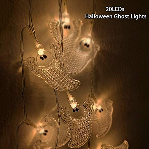 YSJ Ghost Lights for Halloween Decorations 20 LEDs Battery Operated String Lights