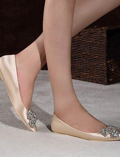 cerrado PDX oficina plano 5 champán punta zapatos raso champagne vestido mujeres casual uk6 us8 eu39 Flats Toe de rojo Toe 5 cn40 Ballerina talón qzqCr