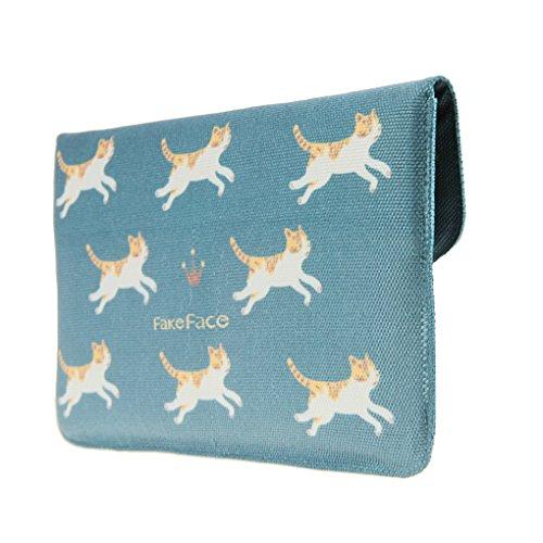 Key Pouches Canvas Card Cats Women Long Purse Holders Fruits Wallet Cash Coin Girls Blue 87qI0