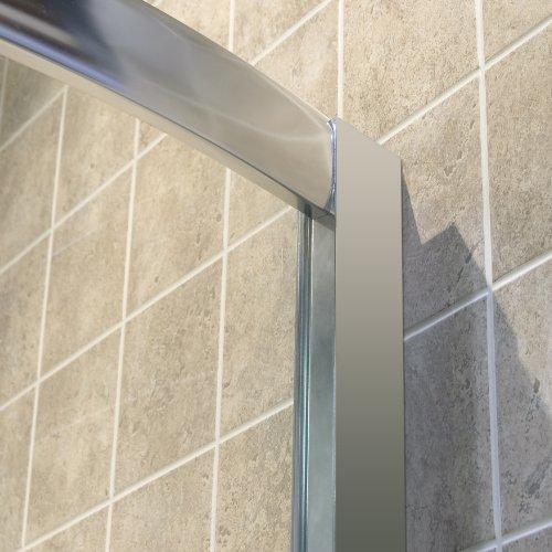 "hot sale DreamLine Solo 36 3/8"" by 36 3/8"" Frameless Sliding Shower Enclosure, Base and QWALL-4 Shower Backwall Kit, DL-6157-01CL"
