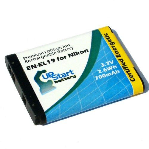 Nikon S6600 Battery - Replacement for Nikon EN-EL19 Digital Camera Battery (700mAh, 3.7V, Lithium-Ion)