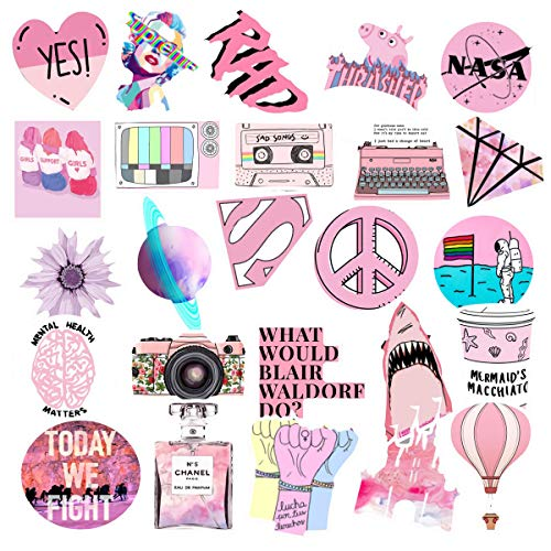 Stickers for Water Bottles Big 53 Pack, Cute, Aesthetic, Funny Stickers for Teens, Girls, Adults. Perfect for Water Bottles, Travel Case, Laptop, Extra Durable Waterproof 100% Viny(Stickers-A)