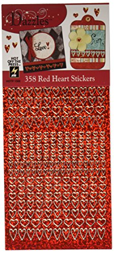 Hot Off The Press Dazzles Stickers -358 Red Heart (DAZ-1566)