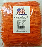 "USA Strong Cable Ties Quick ""Tear-Away"" 6-Inch Tote Saver Virgin nylon self-locking wire management zips 