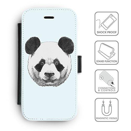 Flip PU Leather Wallet Case avec des fentes de carte de crédit // Q05300619 Panda Bulles // apple iPhone 6s 2015