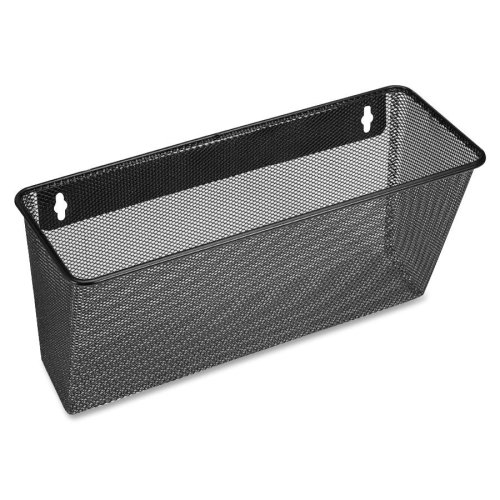 Wholesale CASE of 20 - Lorell Black Mesh/Wire Wall Pocket-Single Wall Pocket, Ltr, 14''x3-3/8''x8-3/4'', Black