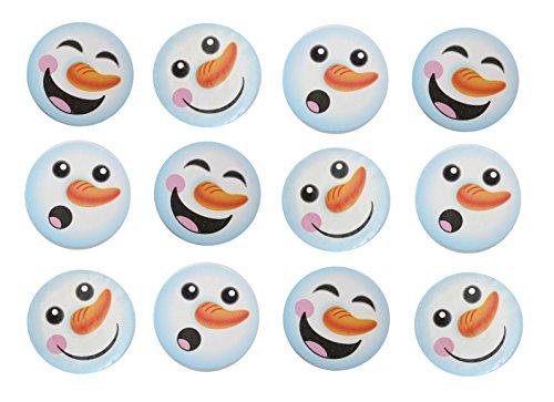 Snowman Winter Party Supplies Favor Set - 12 Mini Snowman Slime / Putty