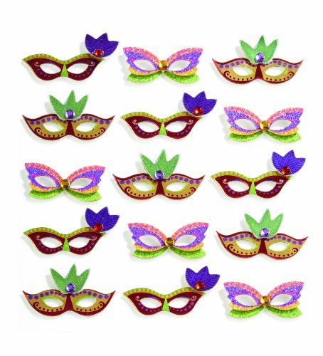 Jolee's Boutique Repeats Dimensional Stickers, Mardi Gras Masks