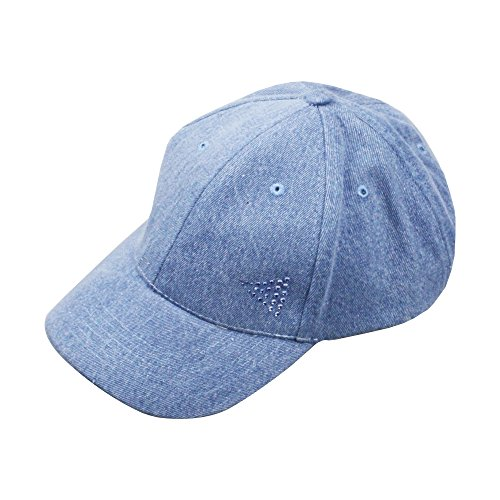 Adorna Chic Luxury Women's Baseball Cap 100% Cotton Structured Body - Cristal Denim Jean
