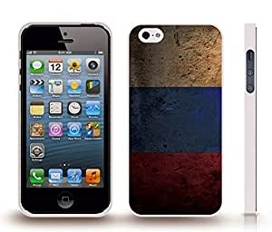 iStar Cases? iPhone 4 Case with Russia Flag Plaster Texture Design , Snap-on Cover, Hard Carrying Case (White)