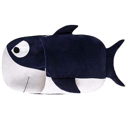 Wovem Shark Cartoon Baby Saco de Dormir Primavera Verano Otoño e Invierno Edredón Niño antipateado,