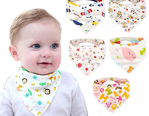 Price comparison product image Healthcom Baby Bandana Drool Bibs,  For Drooling and Teething Babies, Organic Cotton,  Soft and Super Absorbent,  Bibs for Baby Boys and Girls(Pack of 6)