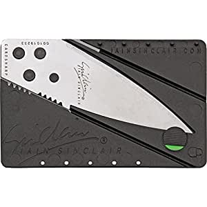 Iain Sinclair Design Cardsharp2 Credit Card Sized Folding Knife with Silver Blade