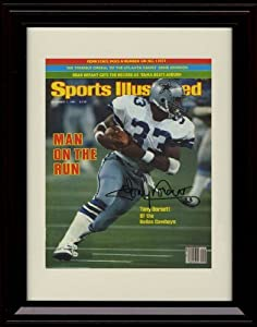 Framed Tony Dorsett Sports Illustrated Autograph Replica Print