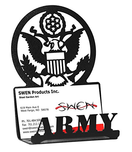 SWEN Products ARMED SERVICES US ARMY MILITARY Black Business Card Holder (Army Office)