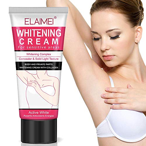 Natural Underarm Whitening Cream, Armpit Lightening & Brightening Deodorant Cream, Body Creams, Underarm Repair Whitening Cream Between Legs Knees Sensitive Areas 60g