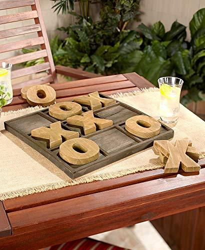 Jumbo Wood Indoor / Outdoor TIc Tac Toe Game with Board..... -