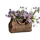 Gladstone Bag Planter - Satchel Handbag Shaped Cast Cement Flower Planter