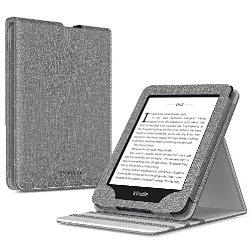 TiMOVO Case for Kindle Paperwhite E-Reader (10th Generation, 2018 Release) - Vertical Multi-Viewing Flip Stand Cover with Auto Sleep/Wake for Amazon Kindle Paperwhite, Jeans Gray