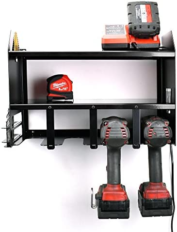Cordless Drill Power Tool Shelving Storage Organiser Tidy Shelf - Shed Garage Workshop