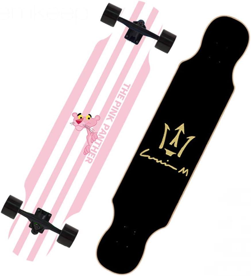 KTYXDE スクータープロダブルロッカー青少年ビギナーブラシストリートアダルトダンスボードメープルスクーター (Color : A) A