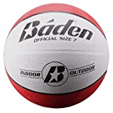 Baden Official  Rubber Basketball, Red/White, 27.5-Inch