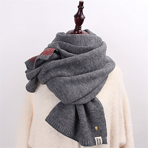 small f 200 E knitted double Scarf color Pure fresh series Sweater sided 45cm Day Winter thickening students Korean Female scarf anwqU