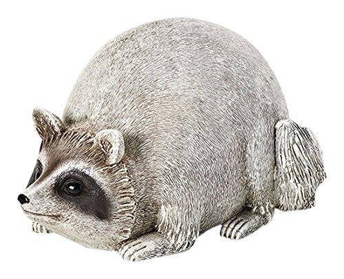 (Roman 16278 Raccoon Pudgy Pals Grey 10 x 5.5 Inch Resin Stone Indoor Outdoor Garden Figurine)