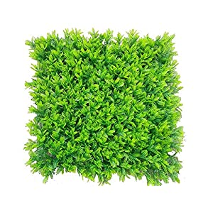 Lovemoon Artificial Hedge Plant,Greenery Panels,Artificial Boxwood Hedge,Topiary Hedge Plant,Indoor & Outdoor Decoration (20x20 Inch Mimosa-1pc only, 1pc Sample) 54