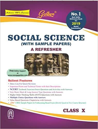 golden social science with sample papers a refresher for class 10