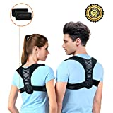 Posture Support Upper Back Brace Corrector For Women Men Kids Teens, Medical& Comfortable for Slouching& Hunching For Forward Head, Relieve Back& Shoulder Pain With 1 pair of Detachable Armpit Pads