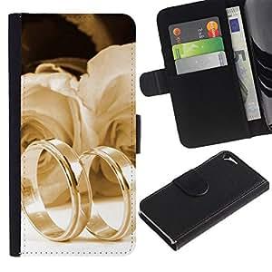 JackGot ( Testimonianza di amore ) Apple iPhone 5 / iPhone 5S la tarjeta de Crédito Slots PU Funda de cuero Monedero caso cubierta de piel
