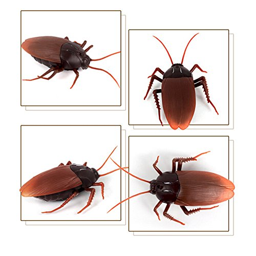 Giveme5 Infrared Remote Control Mock Fake Cockroach RC Toy Prank Insects Joke Scary Trick Bugs for Party