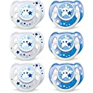 Philips AVENT BPA Free Night Time Pacifier, 6-18 Months, 6 Count