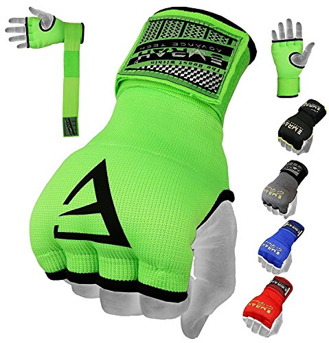 EMRAH PRO Training Boxing Inner Gloves Hand Wraps MMA Fist Protector Bandages Mitts – X (Green, Medium)