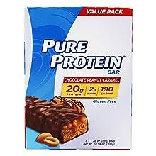 Pure Protein Bars, Gluten Free, Snack Bars, Chocolate Peanut Caramel, 50 gram, 6 Count