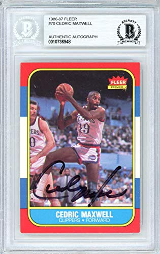 - Cedric Maxwell Autographed 1986 Fleer Card #70 Los Angeles Clippers Beckett BAS #10736948 - Beckett Authentication